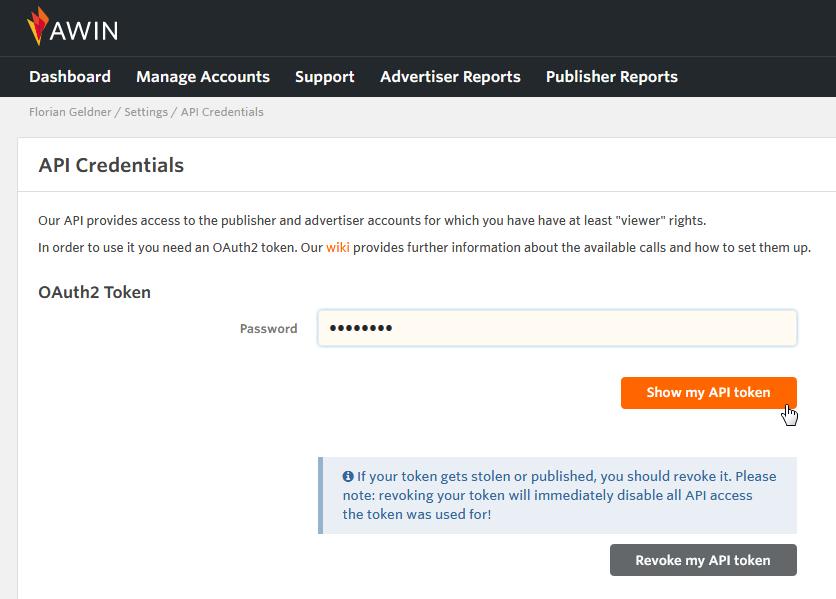 API authentication - Wiki